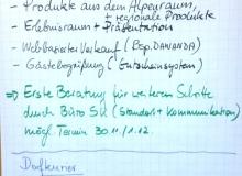Dorferneuerung Wallgau Flipchart am 10.11.2014 AlpenRaum