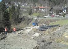 Wallgau Bau der Umfahrung Risser Strasse