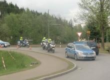 7 Tage vor dem Gipfel. An der Einfahrt von der B2 nach Klais / Elmau