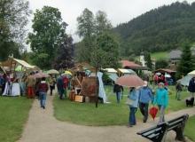 Bauernmarkt in Wallgau am 06.09.2015 im Kurpark