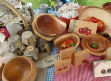 Bauernmarkt in Wallgau am 06.09.2015 Gebrauchsartikel aus Holz