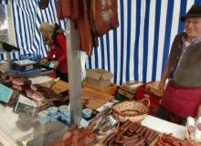 Bauernmarkt in Wallgau am 06.09.2015 geräucherter Speck