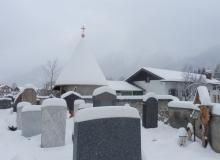 neues Dach für Lourdesgrotte Wallgau 17.01.2016 mit Turmkugel