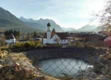 Teich Weiher an der Sonnleiten in Wallgau