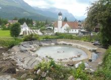 Teichbau an der Sonnleiten in Wallgau am 01.07.2016