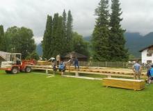 Wallgauer Parkfest 03.07.2016 Aufbau der Bühne