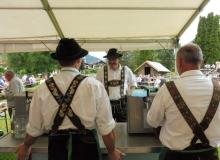 Parkfest des Trachtenvereins d'Simetsbergler und der Musikkapelle Wallgau am 03.07.2016