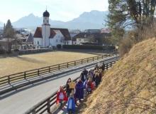Aussendungsgottesdienst der Sternsinger des Dekanats Werdenfels am 02.01.2017 in Wallgau