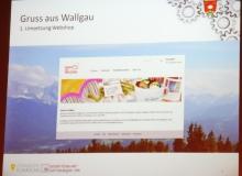 Gruß aus Wallgau, der Webshop der in der Dorferneuerung entstanden ist