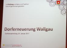 Dorferneuerung Wallgau: Dorfversammlung am 24.01.2017