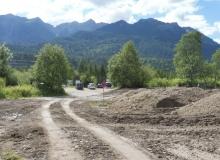 Renaturierung des bisherigen Parkplaztes am Isarsteg Wallgau im Juli 2017