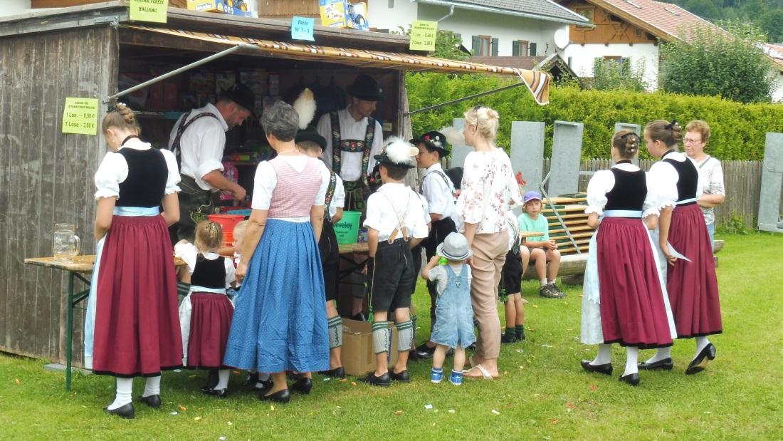 Parkfest am 13.08.2017 in Wallgau. Losstand