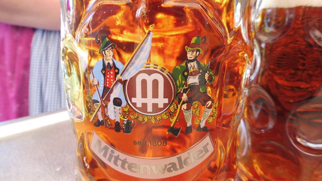 Parkfest am 13.08.2017 in Wallgau. Edel Märzen Festbier der Brauerei Mittenwald