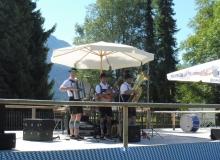 Parkfest am 13.08.2017 in Wallgau. Es spielen die 3-einigen Musikanten