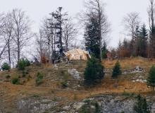 Neuer Unterstand am Krepelschroffen bei Wallgau