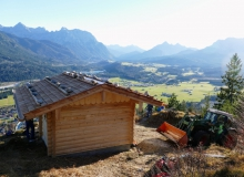 Neuer Unterstand auf dem Krepelschroffen bei Wallgau