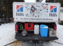Schlittenhunderennen am 24. und 25.02.2018 in Wallgau. Was man so alles braucht als Musher.