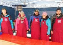 Schlittenhunderennen am 24. und 25.02.2018 in Wallgau. Fleißige helfer der Skiclubs.