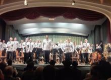 18.04.2018 Benefizkonzert des Gebirgsmusikkorps in Wallgau. Die Musikanten unter der Leitung von Oberstleutnant Karl Kriner bedanken sich für den Applaus