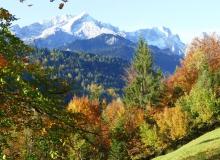 Am alten Gstoag auf dem Weg zur Arbeit kurz angehalten und die Alpspitze fortografiert.