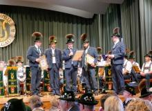 Osterkonzert der Musikkapelle Wallgau am 21.04.2019 Matthias Schöpf und Hannes Niklas verabschieden sich nach 15 bzw. 25 Jahren in der Musikkapelle