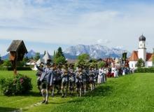 Fronleichnamsprozession am 20.06.2019 in Wallgau