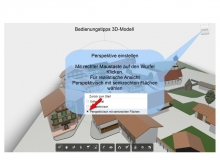 Bedienungstipps-3D-Modell Dorfplatz Wallgau