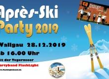 Apres Ski Dorfplatz Wallgau am 28.12.2019