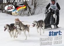 Schlittenhunderennen Wallgau 2019_Plakat