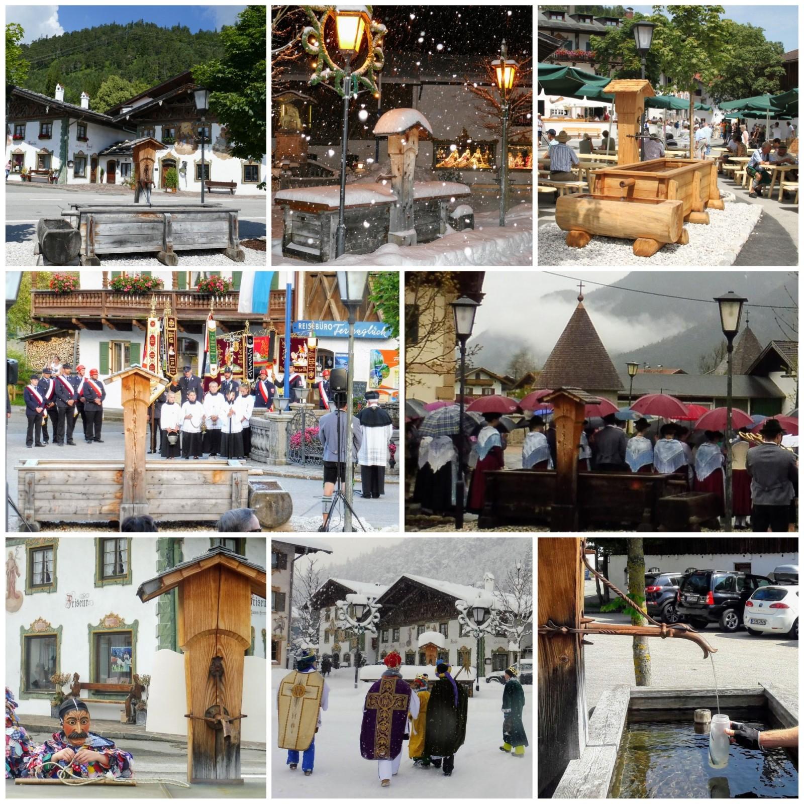 Seit der 1250-Jahrfeier Wallgaus vor gut fünf Jahren steht der Lärchenbrunnen jetzt auf dem Dorfplatz, in dieser Zeit habe ich ihn fotografisch begleitet.