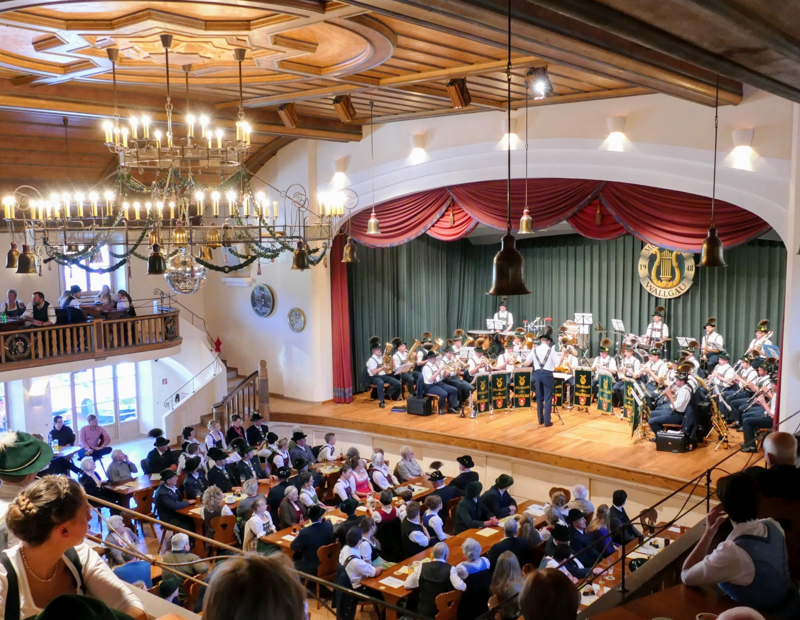 Osterkonzert der Musikkapelle Wallgau easter concert with the Wallgau Brass Band