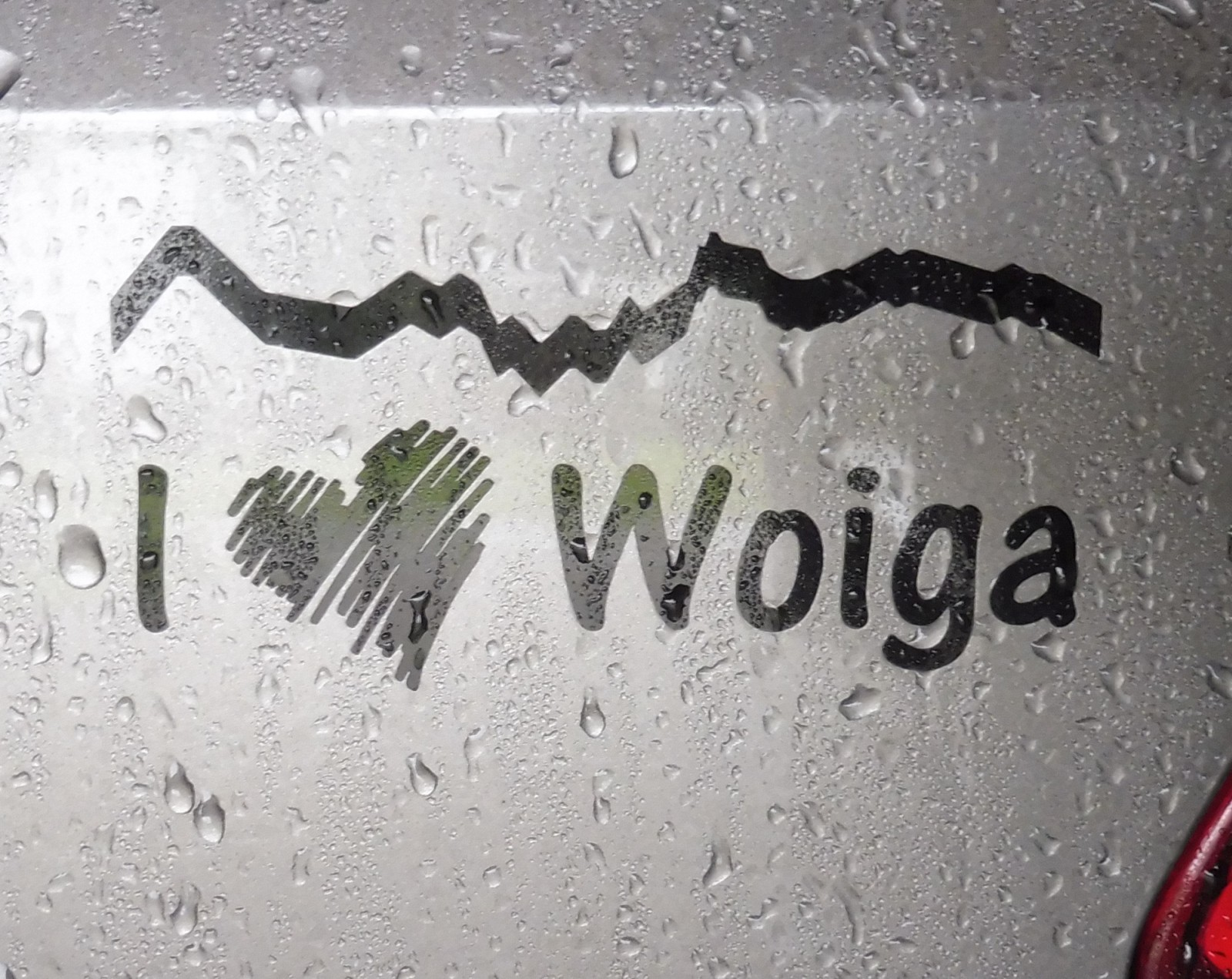 Selbst designter Autoaufkleber für Woiga (Wallgau)