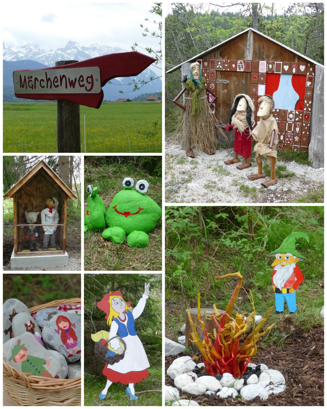 Neu gestalteter Märchenweg in Wallgau