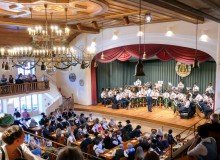 Osterkonzert der Musikkapelle Wallgau easter concert with the Wallgau Brass Band