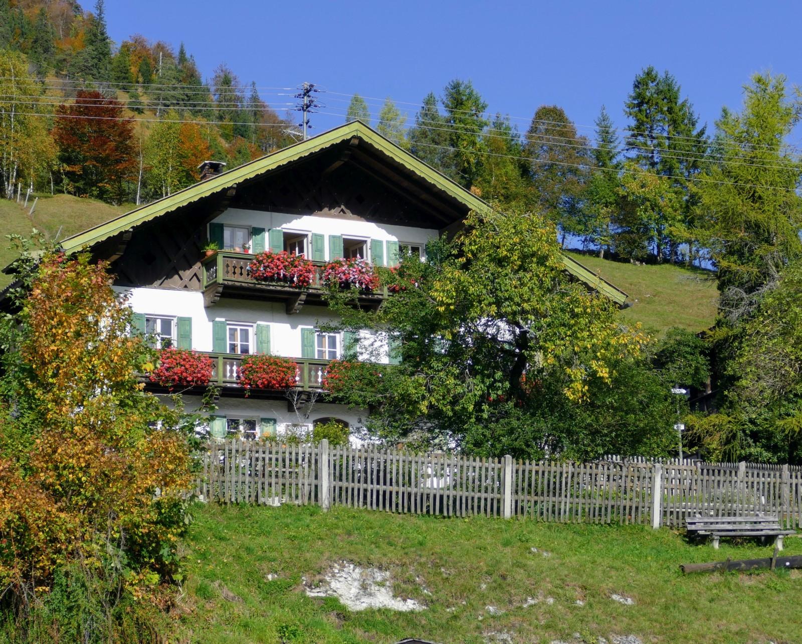 Bauernhaus an der Sonnleiten in Wallgau