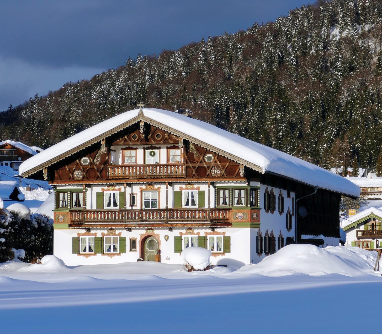 Und noch ein schöner Bauernhof in Wallgau. Erbaut 1922
