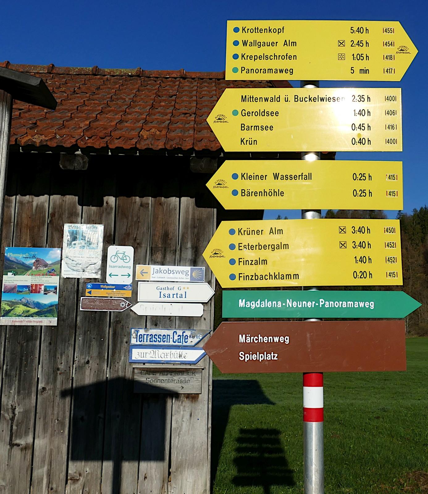 Wanderparadies Wallgau. hiking paradise