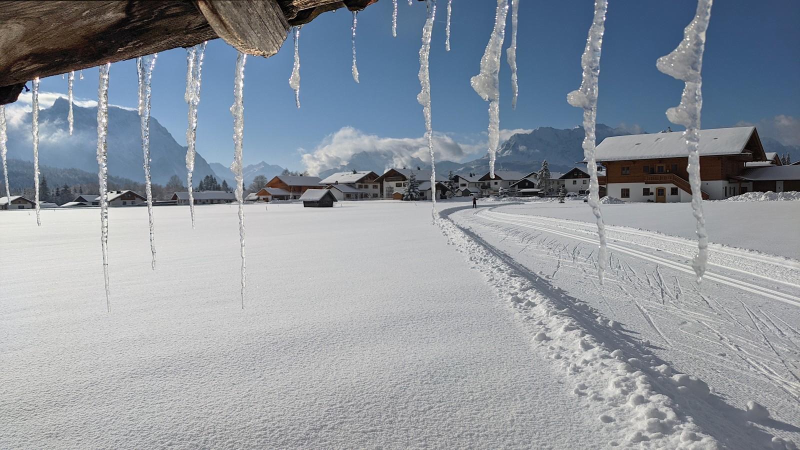Langlaufloipe in Wallgau