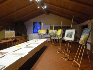 Kunstausstellung Georg Kornbichler in Wallgau