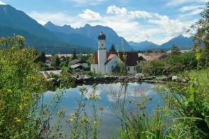 Teich an der Sonnleiten in Wallgau